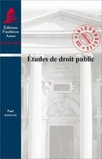 Etudes de droit public