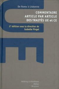 Commentaire article par article des traités UE et CE : De Rome à Lisbonne