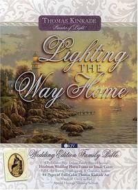 Thomas Kinkade Lighting the Way Home Family Bible: New King James Version, Wedding Edition, White Bonded Leather