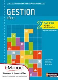 Gestion 2e Bac Pro Gestion-Administration Ptle 1l Icence Numerique Eleve - I-Manuel+Ouvrage Papier