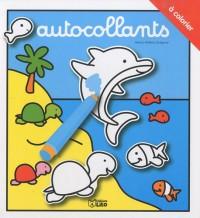 Autocollants à colorier : Le dauphin - Dès 3 ans