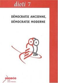 Démocratie ancienne, démocratie moderne