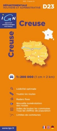 D23 Creuse 1/200.000