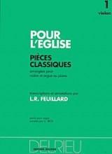 Pour l'Eglise Volume 1 - Violon et piano (ou orgue) - Delrieu