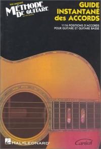 Méthode de guitare : Guide instantané des accords-
