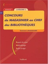 Concours de magasinier en chef des bibliothèques Catégorie C. : Annales