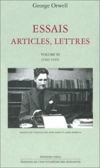 Essais, articles, lettres, tome 3