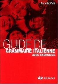 Guide de grammaire italienne avec exercices