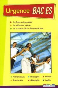 Urgence Bac ES ; Testez-vous pour le Bac ES Pack en 2 volumes