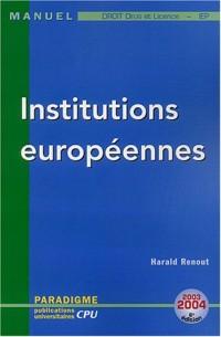 Institutions européennes : DEUG Licence Droit