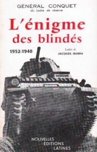 L'Enigme des Blindes 1932 1940