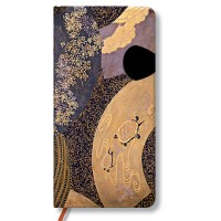 Paperblanks Boîtes Japonaises en LaqueOugi Slim avec rabat Carnet de note Ligné 176 pages Multicolore