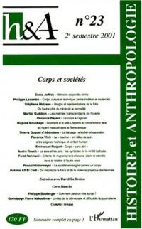 H&a n.23 2e semestre 2001 : corps et societes