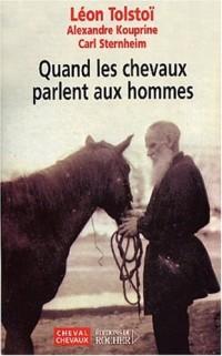 Quand les chevaux parlent aux hommes