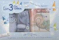 Coffret de naissance garçon : Un joli livre, un doudou tout tendre et un sac à remplir de bisous !