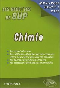Chimie : Classes prépas MPSI - PCSI - PTSI