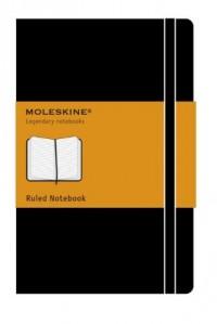 Moleskine Carnet ligné Grand format Couverture rigide noire 13 x 21 cm