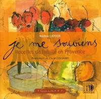 Je Me Souviens Recettes de Famille en Provence (Orange)