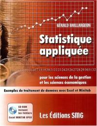 Statistique appliquée pour les sciences de la gestion et les sciences économiques (1Cédérom)