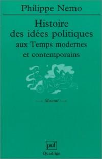 Histoire des idées politiques aux temps modernes et contemporains