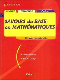 Savoirs de base en mathématiques