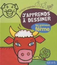 J'apprends à dessiner Les animaux de la ferme + Avec un bloc de papier canson