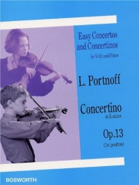 Leo Portnoff: Violin Concertino In E Minor Op.13. Partitions pour Violon, Accompagnement Piano