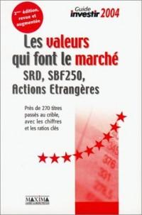Les valeurs qui font le marché : SRD, SBF 250, actions étrangères