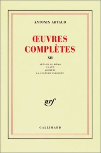 Oeuvres complètes, tome 12