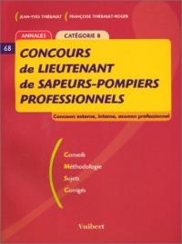 Concours de lieutenant de sapeurs-pompiers professionnels Catégorie B