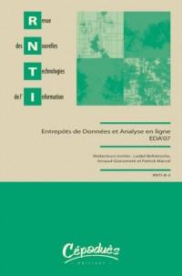 Revue des Nouvelles Technologies de l'Information : Entrepôts de données et analyse en ligne
