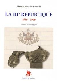 La IIIe République 1919-1940 Histoire chronologique