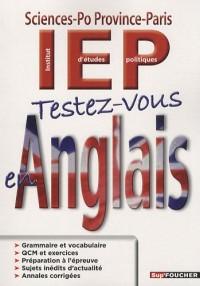 Testez-vous en anglais : IEP Sciences-Po Province-Paris