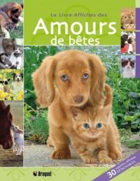 Le livre affiches des Amours de bêtes