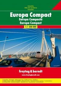 Atlas routiers : Europe Compact Autoatlas (en anglais)