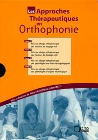 Les approches thérapeutiques en orthophonie Coffret 4 volumes : Tome 1, Troubles du langage oral ; Tome 2, Troubles du langage écrit ; Tome 3, ... ; Tome 4, Pathologies d'origine neurologique