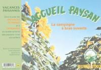 Accueil paysan Guide 2003. La campagne à bras ouverts
