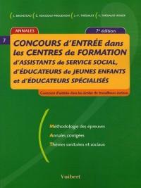 Concours d'entrée dans les centres de formation d'assistants de service social, d'éducateur de jeunes enfants et d'éducateurs spécialisés