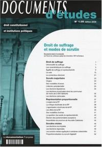 Droit de suffrage et modes de scrutin Documents d'études n.1.05 - édition 2008