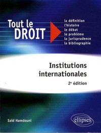 Institutions Internationales 2Eme Edition