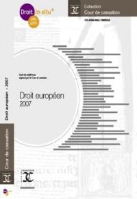 Droit Européen - 2007