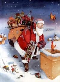 Calendrier de l'Avent Pere Noël Sur le Toit