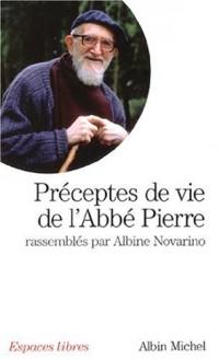 Préceptes de vie de l'abbé Pierre