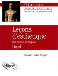 Leçons d'esthétique (Les formes artistiques), Hegel