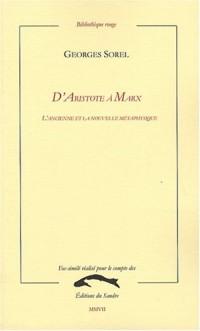D'Aristote à Marx