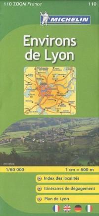 Carte ZOOM Environs de Lyon