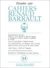 Cahiers Renaud Barrault, n° 52