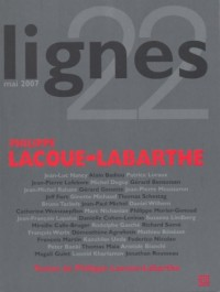 Lignes, n°22. : Philippe Lacoue-Labarthe