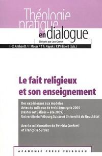 Le fait religieux et son enseignement : Des expériences aux modèles