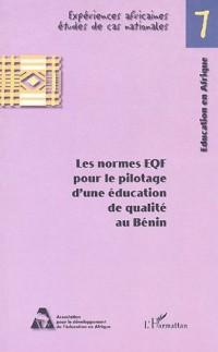 Les normes EQF pour le pilotage d'une éducation de qualité au Bénin